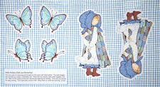 """Holly Hobbie Doll Butterfly Cut & Sew Cotton Fabric SPX 25355 ~ 24""""X44"""" PANEL"""