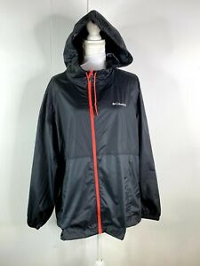 COLUMBIA WOMEN'S BLACK WINDBREAKER JACKET SZ 2X