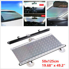 Car SUV Retractable Front Rear Windshield 50x125cm Sunshade UV Visor Curtain Kit