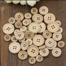 50pcs Wooden 4 Holes Round Wood Sewing Buttons DIY Craft Scrapbooking 15mm/20mm