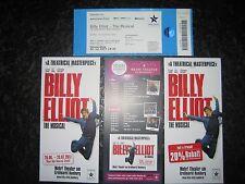 ELTON JOHN Musical BILLY ELLIOT Tour Hamburg 3x Flyer + Ticket stub