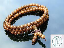 Legno wengé naturale Bracciale Elastico Perline Di Preghiera Tibetano Buddista