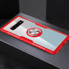 Acrylic Armor Case for Samsung Galaxy Note 10 S9 S10+ Magnetic Ring Holder Cover