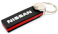 Nissan Llavero de PVC Negro/Rojo Llavero Nuevo + 9999843243 Original