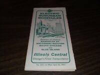 APRIL 1961 ILLINOIS CENTRAL ELECTRIC SUBURBAN PUBLIC TIMETABLE #405