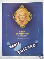 PUBLICITÉ DE PRESSE 1948 MARIE BRIZARD RHUM CHARLESTON UN GRAND RHUM