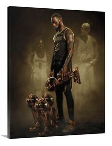 LeBron James For Kobe Canvas 16X20 Wall Art LA Lakers 23 King * 2020 Champions *