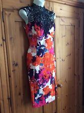 Lipsy Kardashian Kollection pink and orange and blue dress size 12