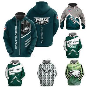 Philadelphia Eagles Football Hoodie Men Pullover Hooded Sweatshirt Casual Jacket