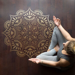 Reflections Mandala Stencil - Large Reusable DIY Medallion Motif Template