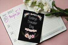 IVF Journey Cards - Chalkboard Floral DD006