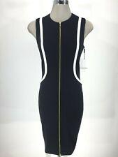 Calvin Klein NWT Modern BLACK/WHITE front zipper Dress , size 6