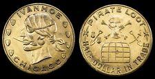 New listing Ivanhoe-Pirate Loot/Half Dollar Loot Token;3000 N Clark St. Chicago Il ca-1920's