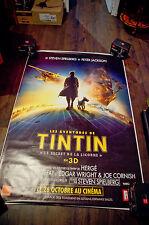 TINTIN SECRET OF THE UNICORN A 4x6 ft Bus Shelter D/S Movie Poster Original 2012
