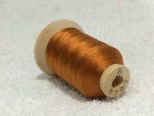 Size B Copper Orange #8797 SILK THREAD~520 Yards Spool Utica/Gudebrod NOS Sewing