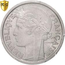 Monnaies, France, Morlon, 2 Francs, 1947, Beaumont - Le Roger, PCGS #96502