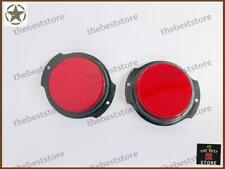 NEW MILITARY RED SIDE MARKER ASSEMBLY (REFLECTOR)  JEEP & WILLYS (SET OF 2)
