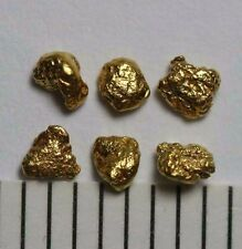 6 GOLDNUGGETS- GOLD NUGGETS aus ALASKA!