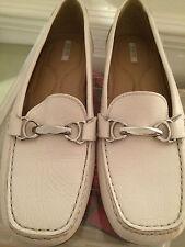 Geotex Crema Mocasines Zapatos sin Taco tan Reino Unido 4 euro 37 Mocasín