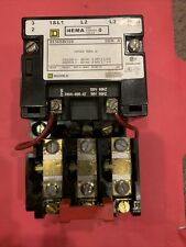 Square D 8536sb02s 3 Pole Size 0 120v Coil B15 Heaters Used
