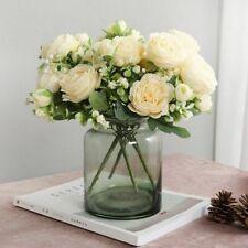 Artificial Flowers Rose Wedding Silk Peony Big Bouquets Foam High Quality Decors