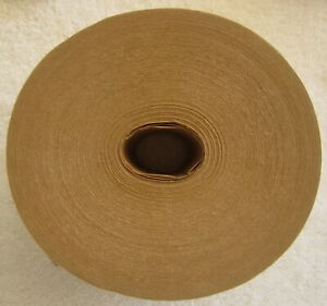 """Reinforced, water activated Kraft tape, heavy duty, 3"""" x 450',brown"""