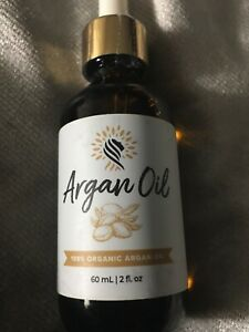 100% ORGANIC ARGAN OIL MOISTURIZING OIL Argan.com 2oz Arian Cosmetics New Sealed