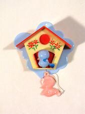 Vintage 70er Jahre Baby Spieluhr PLASTY Spieluhr Vogelhäuschen
