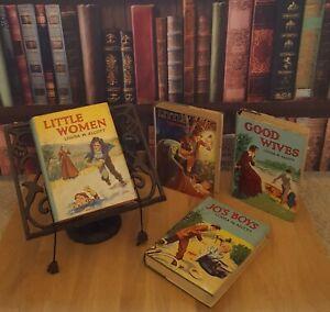 SET OF 4 LITTLE WOMEN BOOKS ANTIQUARIAN 1950 ERA LOUISA M ALCOTT SEE OTHER BOOKS