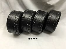 Power Wheels Ford Red Mustang 2 Left & 2 Right Wheels + Retainers Genuine
