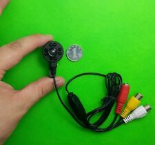 HD Mini CCTV Audio IR Camera Micro 650TVL Night Vision 1.7mm Wide Camera 8 LED