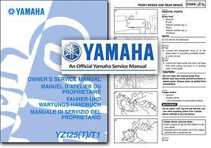 Las Mejores Ofertas En Manuales De Reparacion De Motocicletas Yamaha Yz125 Y Literatura Ebay
