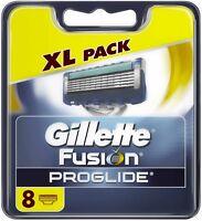 GENUINE UK GILLETTE FUSION PROGLIDE Men's Razor Blades Cartridges PACK OF 8