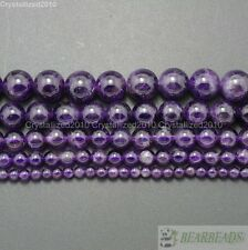 Grade A Natural Amethyst Gemstone Round Beads 2mm 3mm 4mm 6mm 8mm 10mm 12mm 16