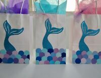 Mermaid Party favor Bags.Under the Sea Party Favors,Goodie bag,  SET OF 8