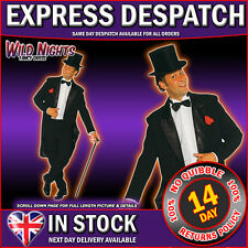 FANCY DRESS COSTUME * DELUXE 1920'S MENS CABARET SUIT BLACK SMALL