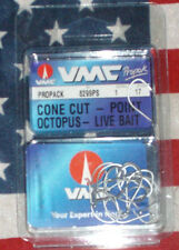 vmc size 1 cone cut octopus live bait fishing hooks 8299ps qty 17 france made