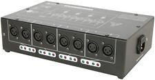 QTX DMX Splitter 8 way Booster Distributeur Éclairage DEL DJ