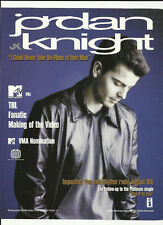 New Kids on the Block JORDAN KNIGHT & 98 DEGREES TRADE AD POSTER for 2001 CD