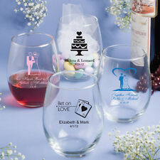 200 Personalized 15 Oz Stemless Wine Glass Wedding Party Event Favors For Guests