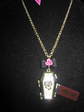BETSEY JOHNSON  FILM NOIR  CREEPY HALLOWEEN COFFIN WITH SKELETON NECKLACE