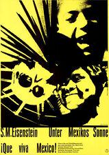 Unter Mexikos Sonne ORIGINAL DIN A1 Kinoplakat Sergei M. Eisenstein / Hillmann