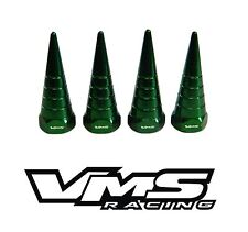 VMS BILLET ALUMINUM GREEN H22 H22A VTEC VALVE COVER SPIRAL SPIKE NUTS BOLT 8 PCS