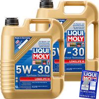 10 Liter Original Liqui Moly Longlife III 5W-30 Motoröl Engine Oil Motorenöl