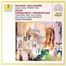 Beethoven: Missa Solemnis; Mozart: Messa Delll'Incoronazione / Karajan - CD
