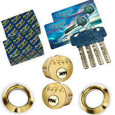 """Angal 1"""" High Security cylinders TWO (2) keyed alike.bump/pick/drill proof"""