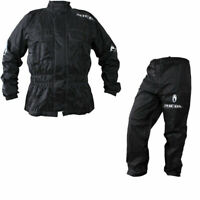 Richa Rain Warrior Motorcycle Jacket and Trouser All Weather Black 100% WP