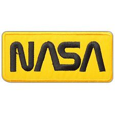 NASA Yellow Sign Symbol Space Discovery Astronaut Planets Iron-On Patches #0769