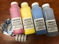 4 Toner Refill (ECONOMY) for Ricoh Type 145, SP C410, C411, C420dn + 4 Chip
