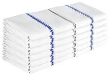 AMAZING 12 Pack Kitchen Towels Dish Towel Set Tea 15X25 100% Cotton White Blue